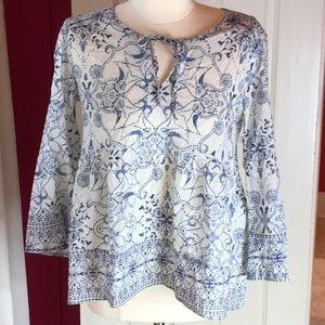 Odd Molly Blue Print Shirt